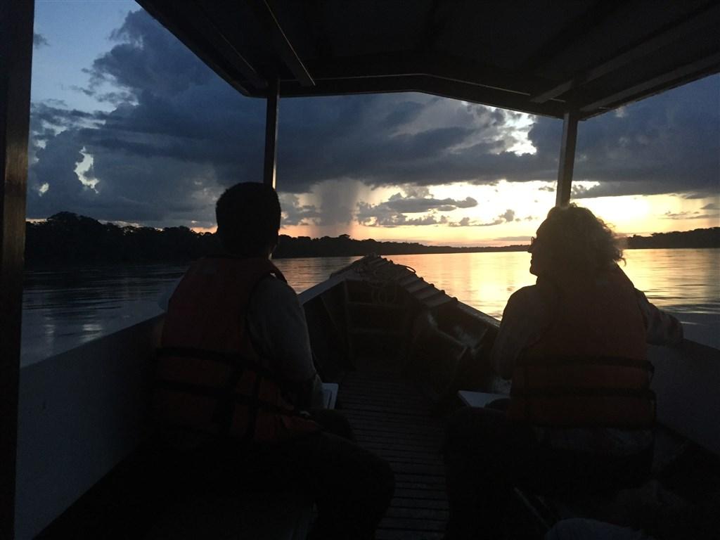 Amazonie - západ slunce