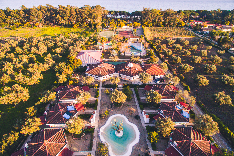 Hotel Villaggio Borgo - letecký pohled