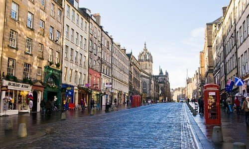 Skotsko, Orkneje - letecky - Edinburgh - Royal Mile